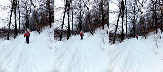 Traipsing through the snow