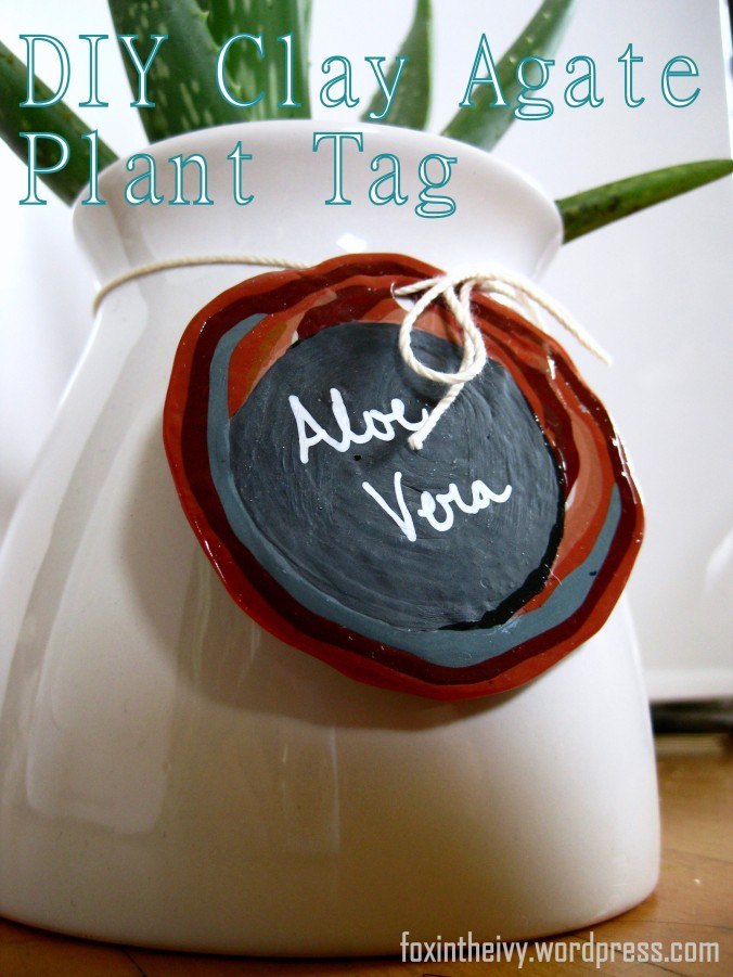 DIY Clay Agate Plant Tag