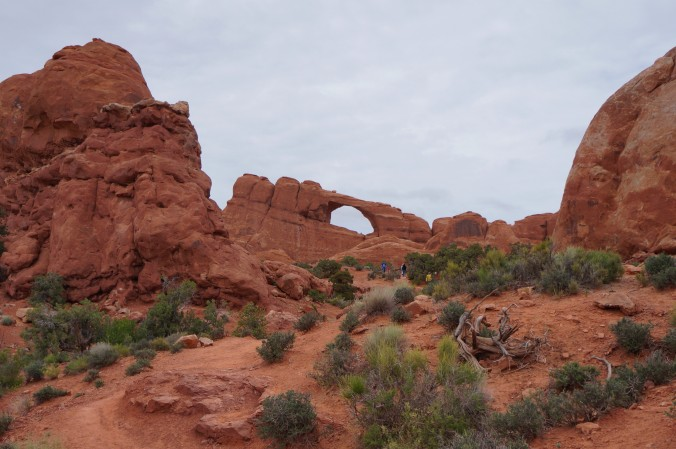 We got a picture of Tunnel Arch from the road