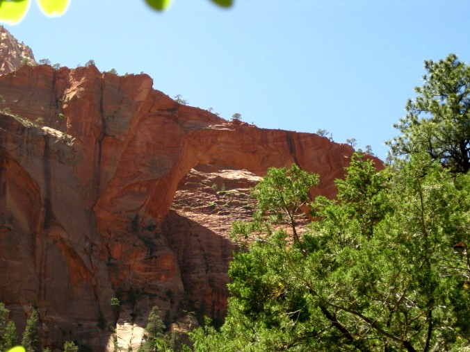 The end of the hike, the Kolob Arch