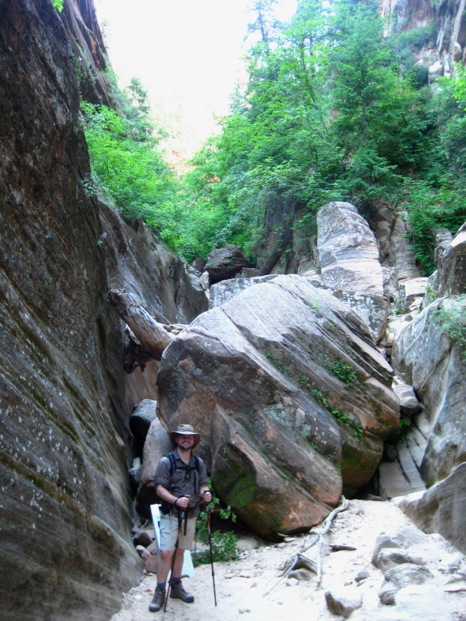 The end of the trail, the rest of the canyon is preserved for wildlife